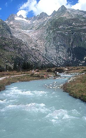 Rhone River Switzerland Rhine River - Swiss river to the rhine